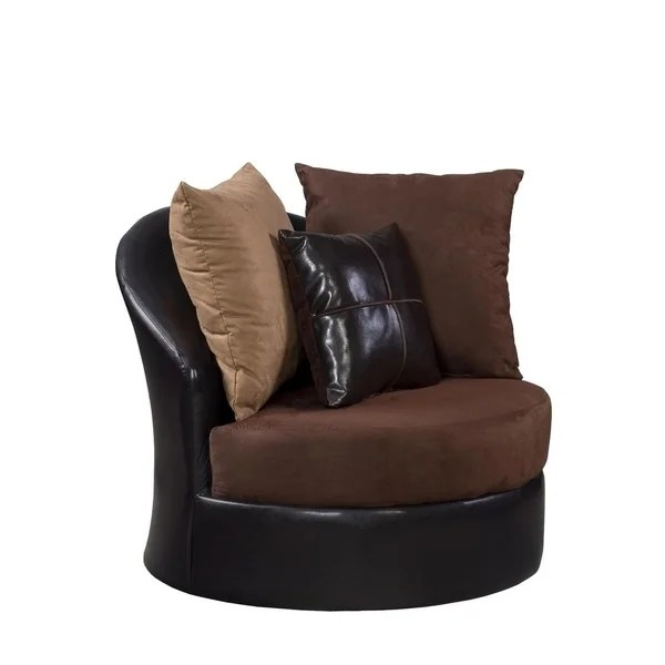 ab swivel chair jungle animal chairs shop sofatrendz donatella chocolate free shipping today overstock com 20846609