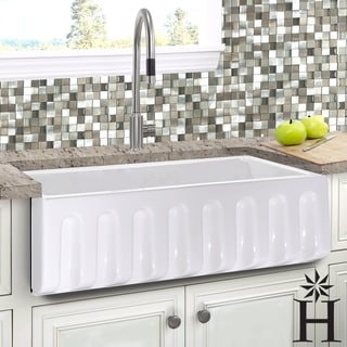 country kitchen sink solid wood ready to assemble cabinets buy farmhouse sinks online at overstock com our best italian fireclay 33 inch reversible