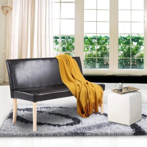 wood frame living room furniture modern coffee tables shop cushioned bench sofa couch brown free