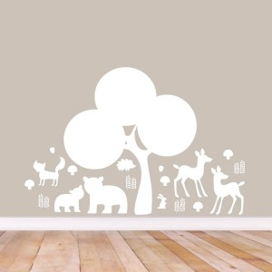 Woodland Forest Silhouette Wall Decal Pack - MEDIUM