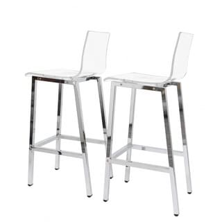 ghost chair bar stool swing tent buy clear counter stools online at overstock com our best acrylic set of two