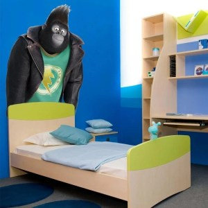 "Monkey Cartoon Full Color Wall Decal Sticker K-252 FRST Size 30""x47"""