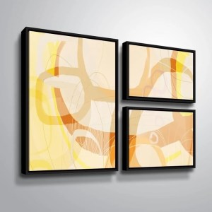 ArtWall Delores Orridge Naskrent 'Caramel Candy' 3 Piece Floater Framed Canvas Flag Set