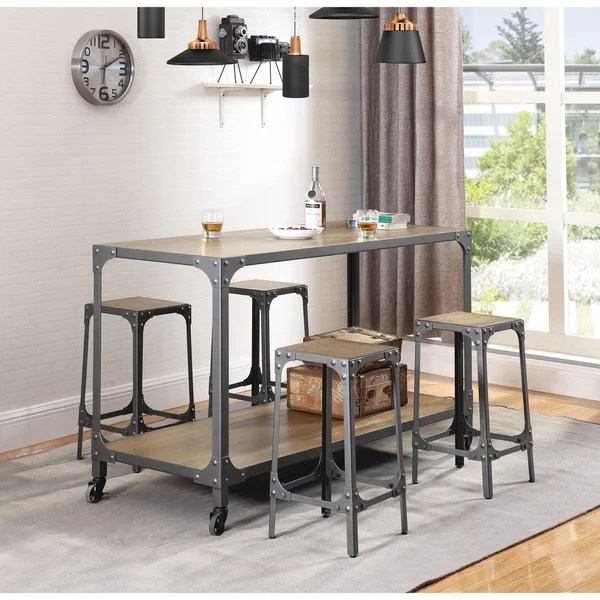 metal kitchen island modern sets shop carbon loft bush industrial with caster wheels on sale free shipping today overstock com 21490564