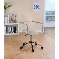 Swivel Chair Em Portugues Family Room Chairs Shop Contemporary Clear Acrylic Office Free Shipping Today Overstock Com 20875408