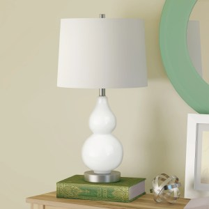 Katrina Petite Double Gourd Table Lamp in White