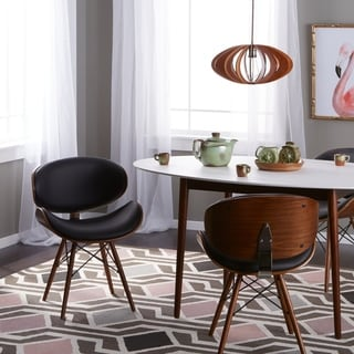 overstock com chairs pregnancy cushion for office chair buy accent living room online at our corvus madonna mid century walnut and black finish