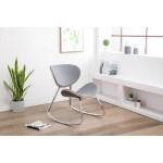 Mid Century Modern Ludwik Upholstered Indoor Rocking Chair Overstock 20906705