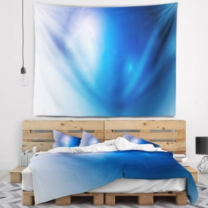 Designart 'Mysterious Blue Fractal Texture' Abstract Wall Tapestry