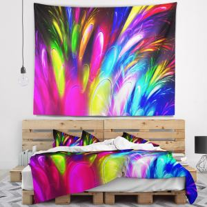 Designart 'Mysterious Psychedelic Design' Abstract Wall Tapestry