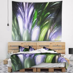 Designart 'Mysterious Psychedelic Flower' Abstract Wall Tapestry