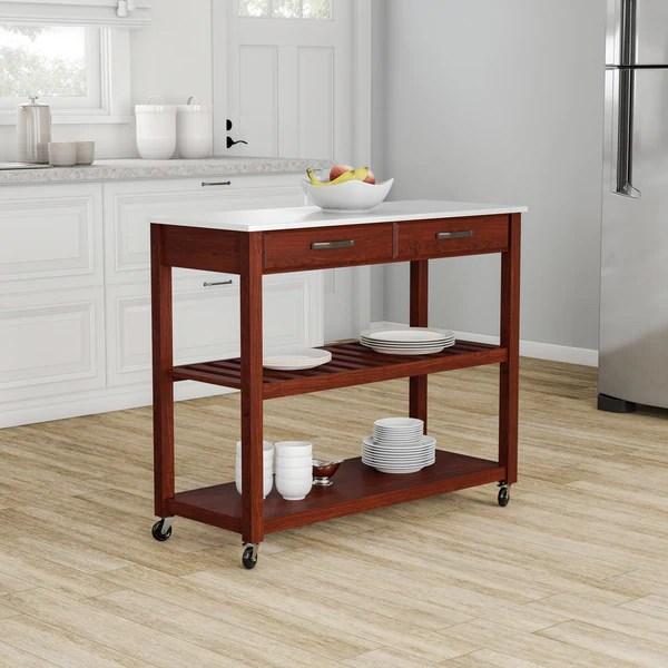 cherry kitchen cart aid toaster oven shop porch den calvert finish wood island amp