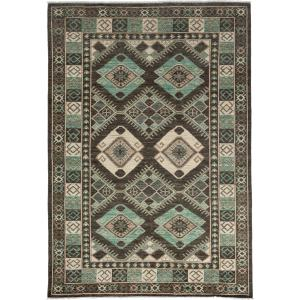 "Ersari Tribal Gray Area Rug - 6' 3"" x 8' 9"""