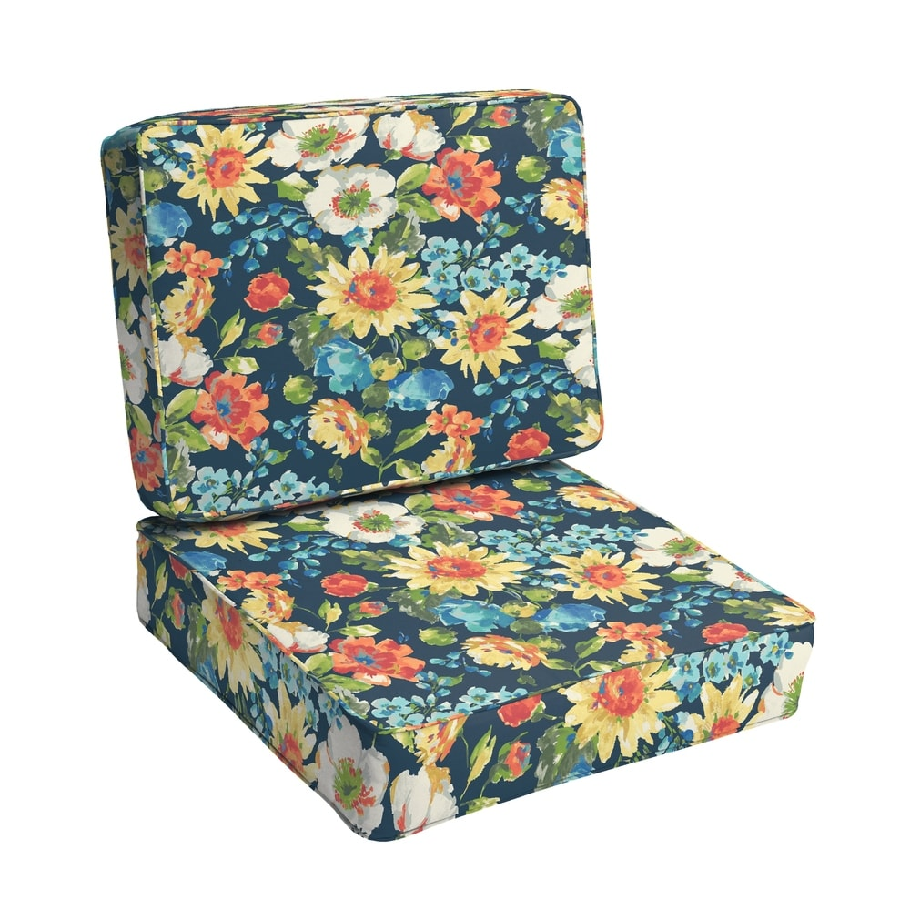 buy blue floral outdoor cushions