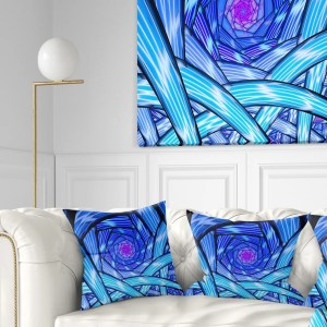 Designart 'Mysterious Psychedelic Fractal Pattern' Abstract Throw Pillow