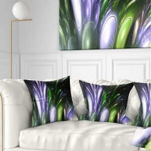 Designart 'Mysterious Psychedelic Flower' Abstract Throw Pillow