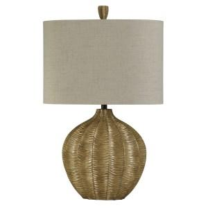 Contemporary Georgian Silver Table Lamp - Natural Linen Hardback Fabric Shade