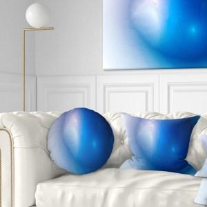 Designart 'Mysterious Blue Fractal Texture' Abstract Throw Pillow