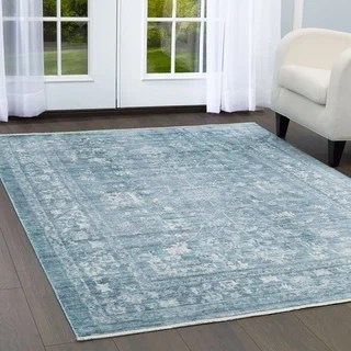 Shop Safavieh Valencia Alpine Multi Distressed Silky Polyester Rug 5 X 8 On Sale Free