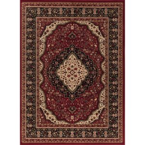 "Concord Global Ankara Katrina Red Rug - 6'7"" x 9'6"""