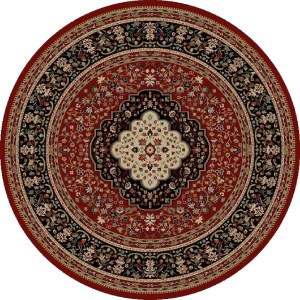 "Concord Global Ankara Katrina Red Round Rug - 7'10"" x 7'10"""