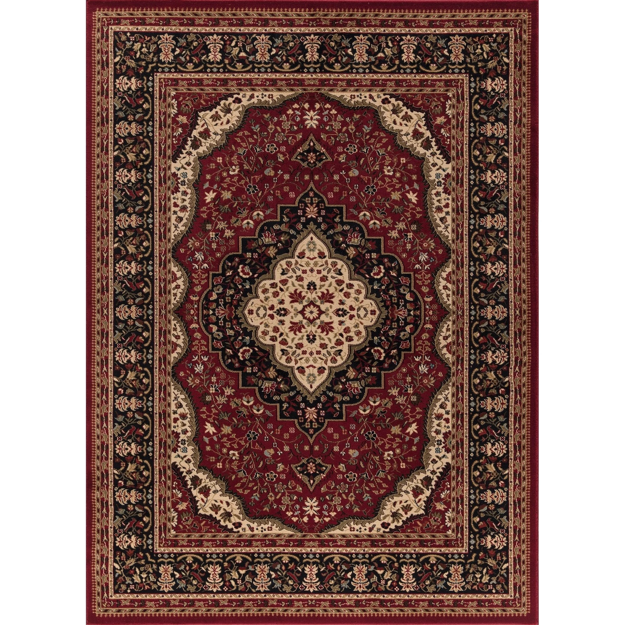 Concord Global Ankara Katrina Red Rug - 7'10 x 10'10