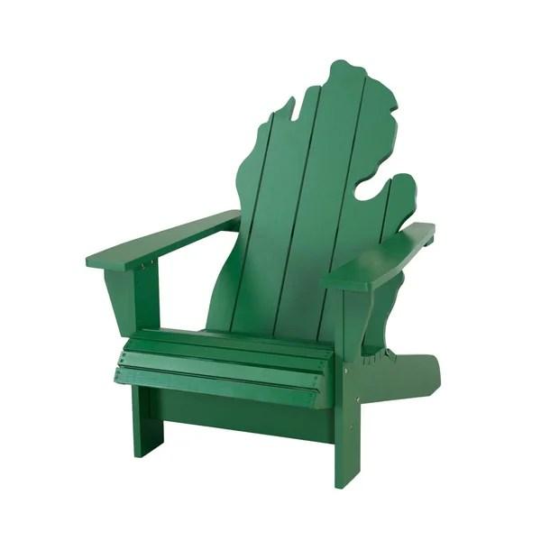 michigan adirondack chair cristo cross back white shop sunjoy green outdoor free shipping today overstock com 21012283
