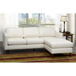 Ray Mid Century Modern Ivory Top Grain Leather Tufted Sectional Sofa 88 X 38 X 35 On Sale Overstock 21012757