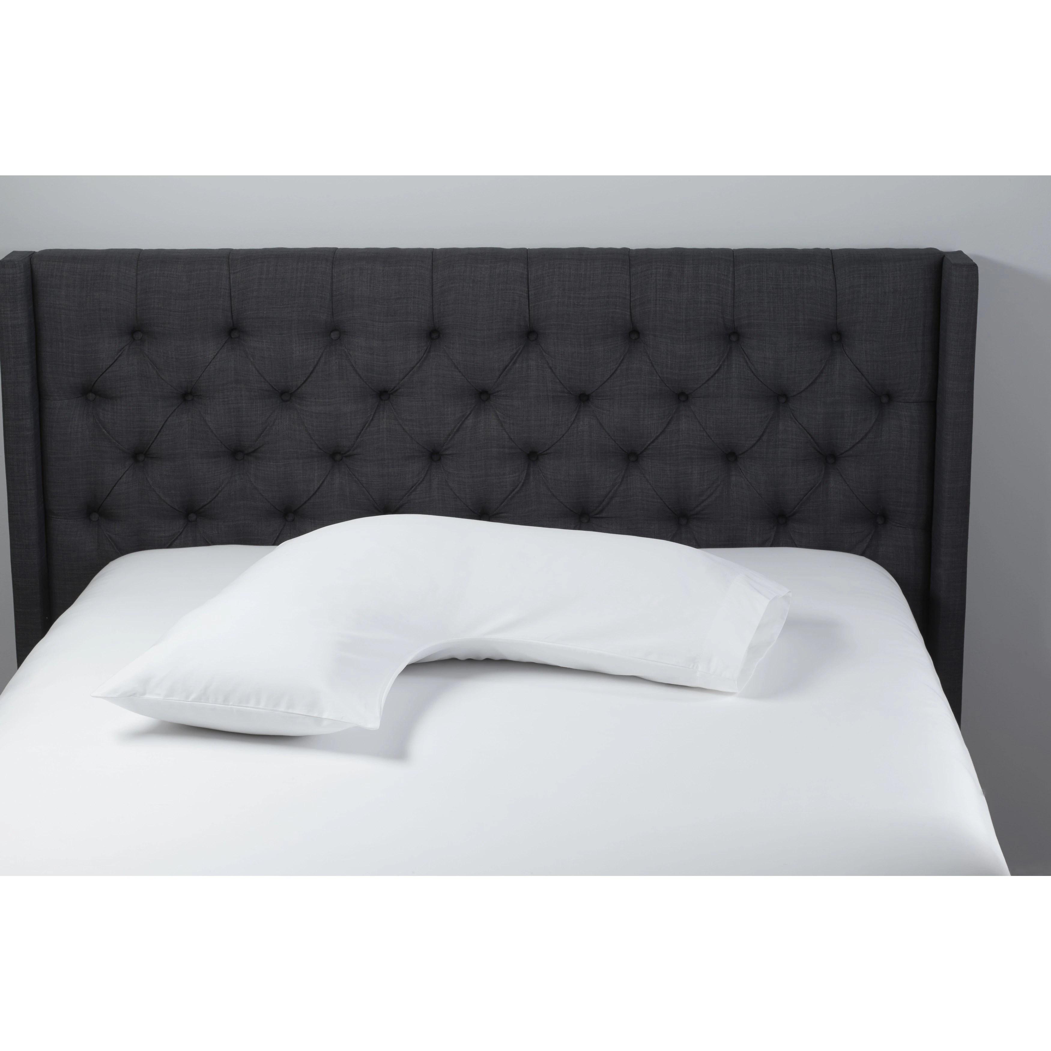 beautyrest boomerang shaped lite loft body pillow white