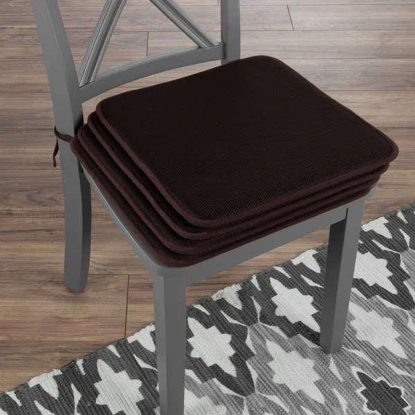 chair pads kitchen large round table shop cushions set of 4 square foam 16 x with
