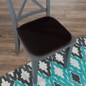 "Memory Foam Chair Cushion-Square 16""x 16"" Chair Pad with Non-Slip Backing for Kitchen, Dining Room, Patio by Windsor Home"