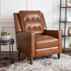 Leather Recliner Chairs Cushion Chair Bed Buy Abbyson Rocking Recliners Online At Overstock Holloway Mid Century Top Grain Pushback
