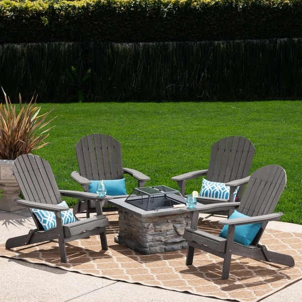 adirondack chair sale best office for bad back shop marrion outdoor 5 piece set with fire pit by christopher knight home