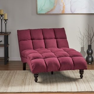 long lounge chair emco fishing buy chaise lounges living room chairs online at overstock com our kaniel traditional tufted fabric double by christopher knight home