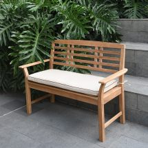 Havenside Home Goodwin 4-foot Teak Garden Bench With Taupe