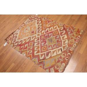 Southwest Vintage Turkish Kilim Flatweave Area Rug - Beige/Brown/Rust - 3' x 5'