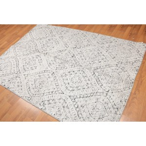 Transitional Hand-Knotted Oriental Area Rug - Grey/Black - 5' x 7'