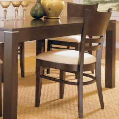 Dining Chairs Overstock Striped Accent Chair Shop Venice Espresso Cushioned Set Of 2 By Inspire Q Classic