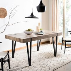 Rustic Metal Kitchen Chairs Office Phoenix Az Buy Dining Room Tables Online At Overstock Com Safavieh Alyssa Multi Brown Table 59 1 X 35 4