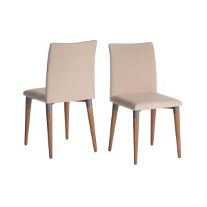 Manhattan Comfort Charles Mid Century Upholstered Dining Room Chair Set of 2