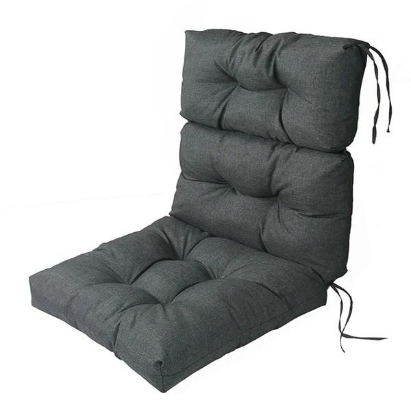 high back lawn chair cushions desk amazon shop lnc indoor outdoor lounge patio cushion grey