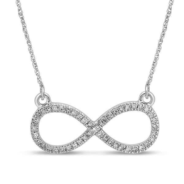 Shop Unending Love 10K White Gold 1/8ct TDW Diamond (I-J
