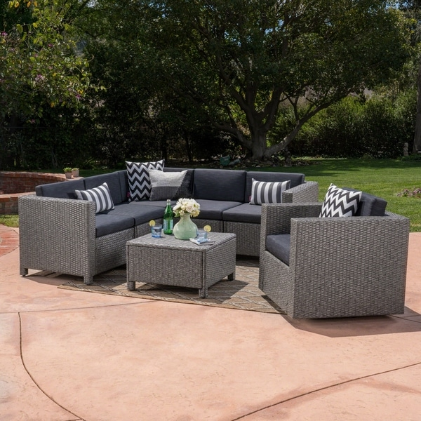 swivel chair sofa set office with massage shop puerta outdoor 6 seater grey wicker v shaped and by christopher