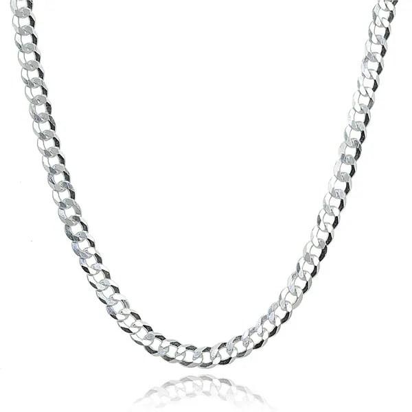 Shop Mondevio Italian 2.5mm Diamond-Cut 925 Silver Cuban