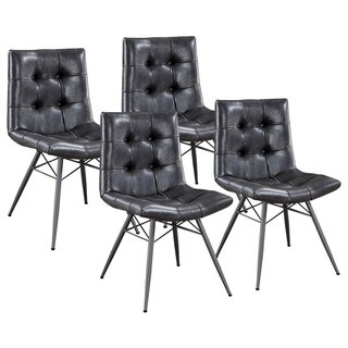 set of chairs cold steel chair tips buy 4 kitchen dining room online at overstock com modern artistic design button tufted grey upholstered
