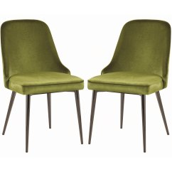 Modern Green Dining Chairs Chair Cover Rental Companies Chic Design Velvet With Metal Legs Set Details About Of 4