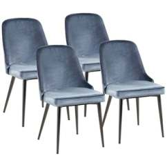 Chairs 4 Less High End Bean Bag Chair Wingback Metal Kitchen Dining Room For Overstock Modern Chic Design Blue Velvet With Legs Set Of