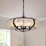 Marielle Oil Rubbed Bronze 4 Light Globe Pendant With Fabric Shade Overstock 21381937