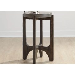 Chair Side Tables Canada Dinner Chairs For Sale Shop Cascade Wire Brush Rustic Brown Table Ships To