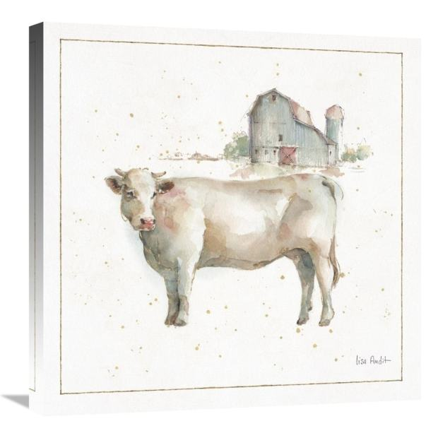 Global Gallery, Lisa Audit 'Farm Friends VIII' Stretched Canvas Artwork